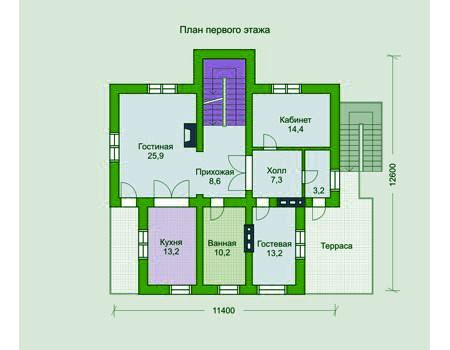 Дизайн комбинированного дома 13