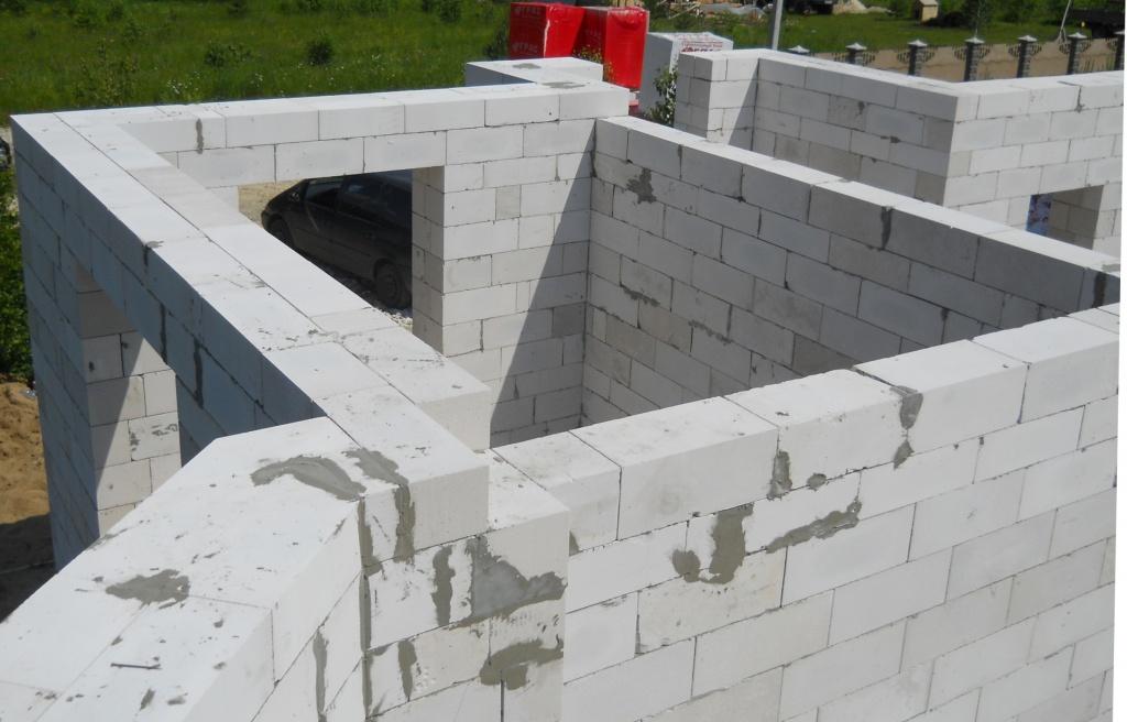 Стены из газосиликатных блоков